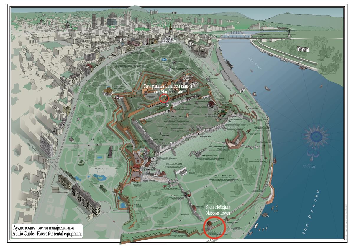 mapa beograda kalemegdan Audio Guide on the Belgrade Fortress | Beogradska Tvrdjava mapa beograda kalemegdan