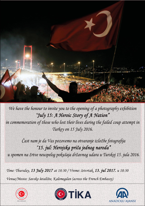 Invitation, 13 July occasion, 18.30